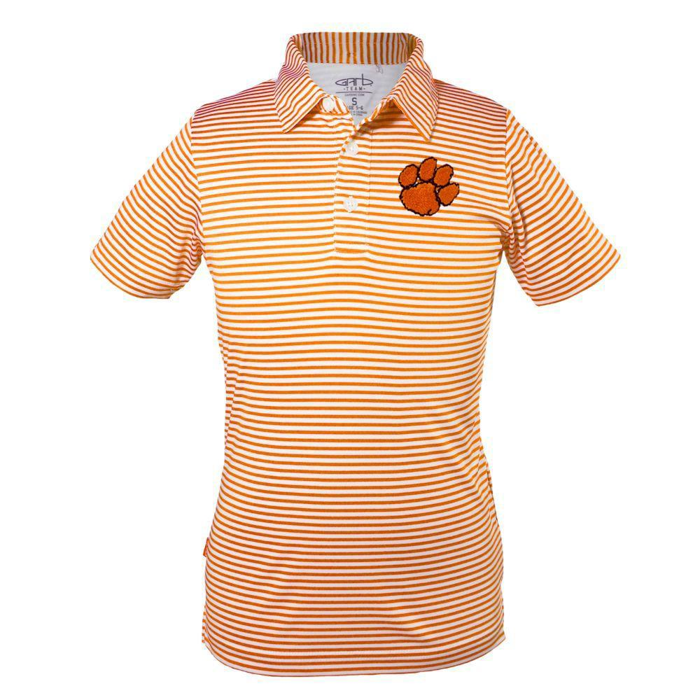 Clemson Youth Carson Striped Polo