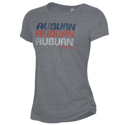 Auburn Alternative Apparel Stacked Wordmark Ideal Tee