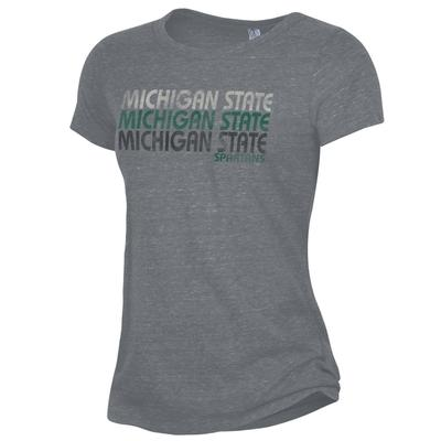 Michigan State Alternative Apparel Stacked Wordmark Ideal Tee