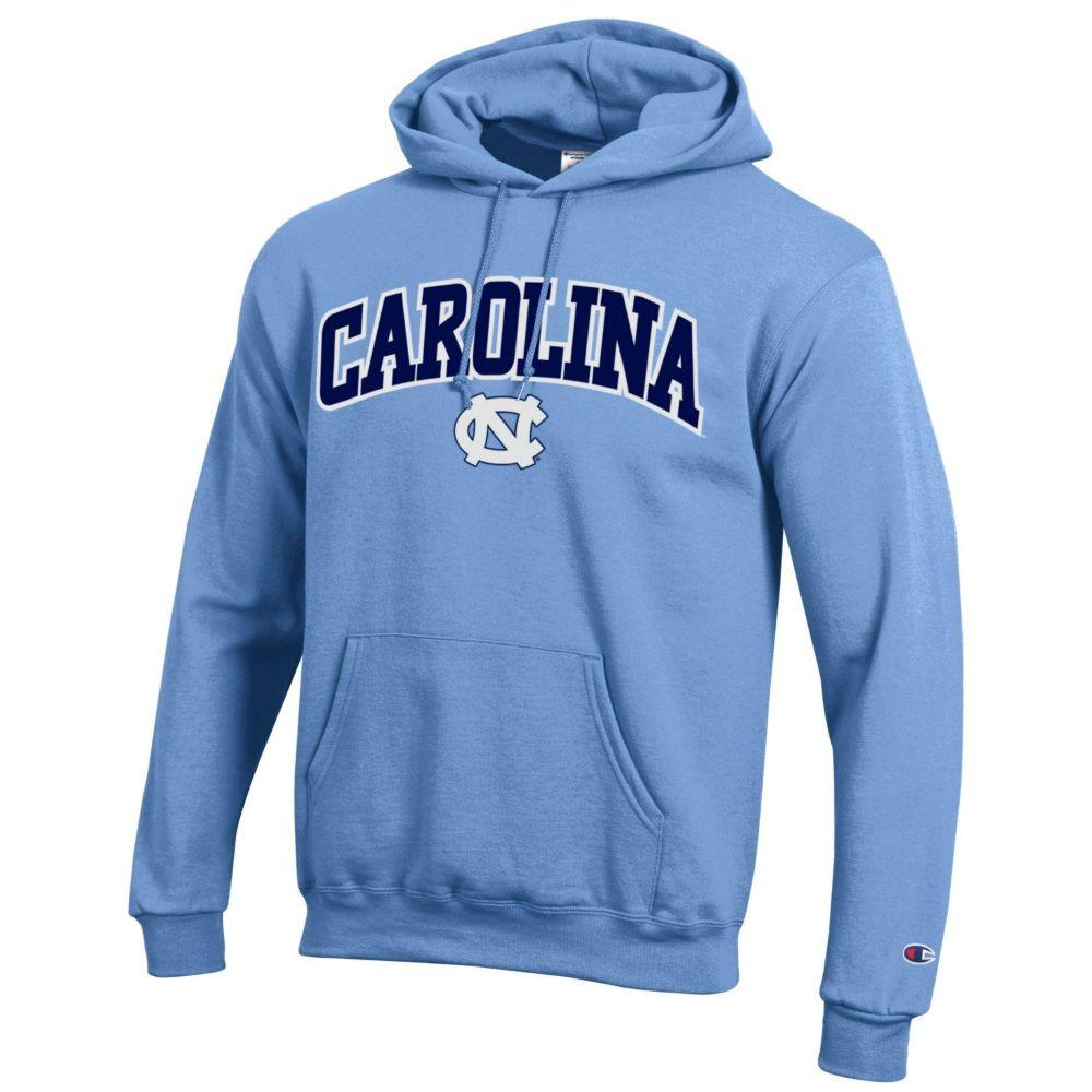 Unc Champion Arch Logo Applique Hooded Sweatshirt
