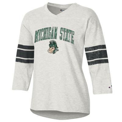Michigan State Women's Rochester Slub Football Tee Shirt