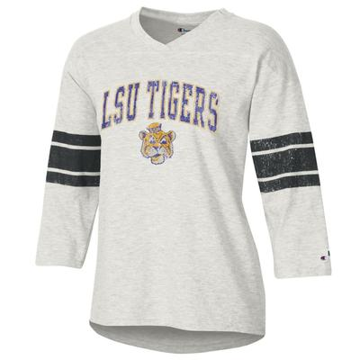 LSU Women's Rochester Slub Football Tee Shirt