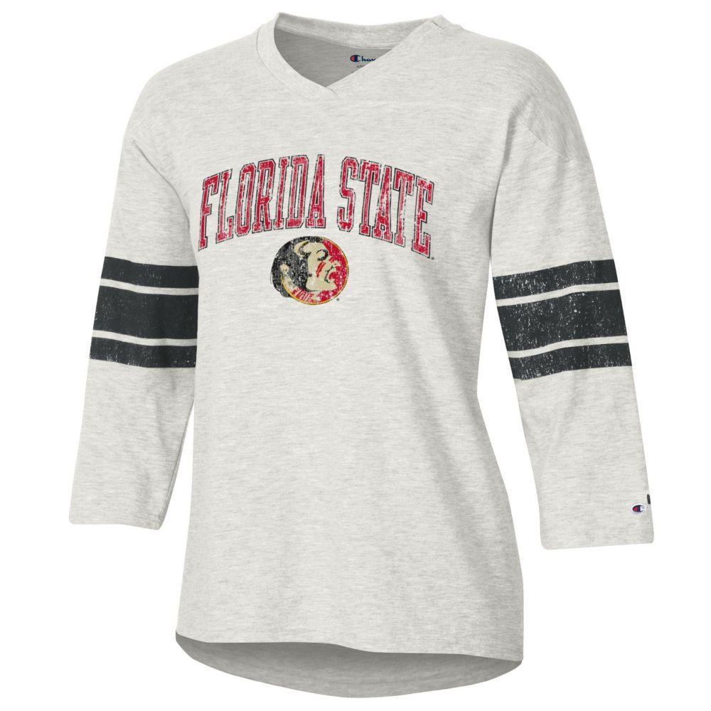 Florida State Women's Rochester Slub Football Tee Shirt