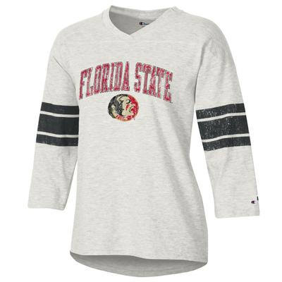 Florida State Women's Rochester Slub Football Tee Shirt