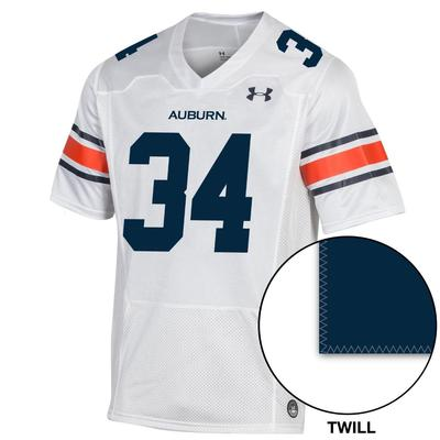 Auburn Under Armour Men's 34 Premier Replica Jersey WHITE