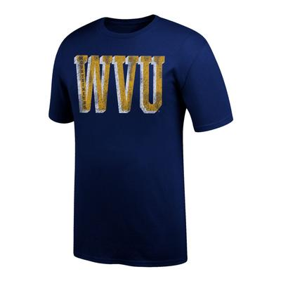 West Virginia Giant Distressed WVU Tee Shirt
