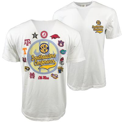 SEC Circle Script Comfort Colors Tee