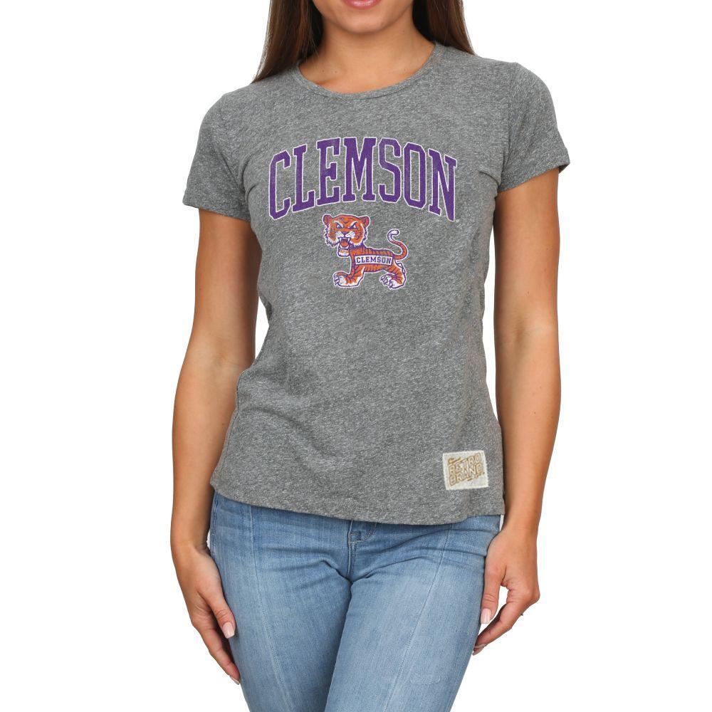 Clemson Retro Brand Melanie Vault T- Shirt