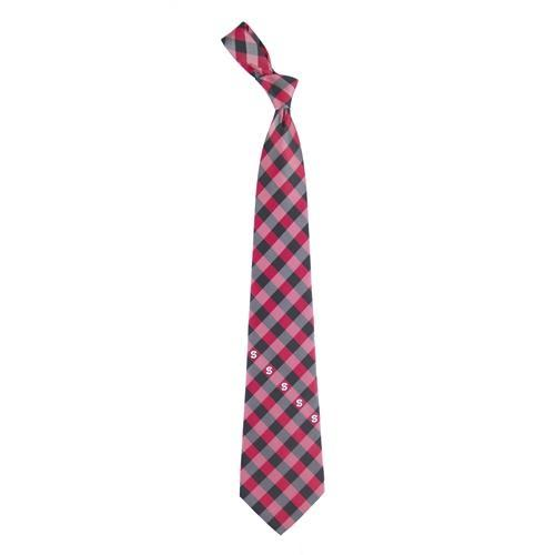 Nc State Woven Polyester Check Tie