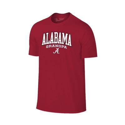 Alabama Arch Logo Grandpa Tee Shirt CRIMSON