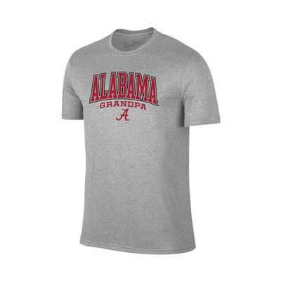 Alabama Arch Logo Grandpa Tee Shirt GREY