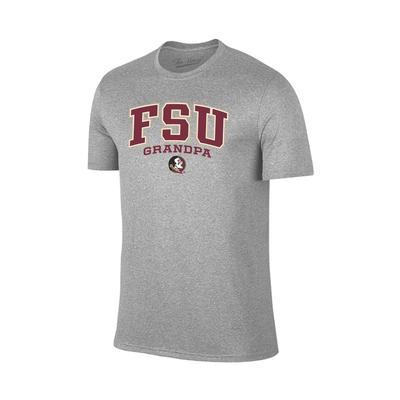 Florida State Arch Logo Grandpa Tee Shirt GREY