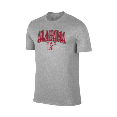 Alabama Arch Logo Dad Tee Shirt GREY