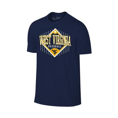 West Virginia Logo Baseball Diamond Tee Shirt
