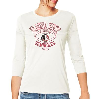 Florida State Retro Brand Women's 3/4 Sleeve Football Jersey Crop Top