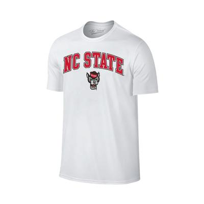 NC State Men's Arch Logo with Wolf Tee Shirt