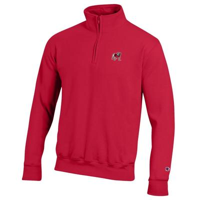 Georgia Champion Men's Standing Bulldog Applique 1/4 Zip Pullover