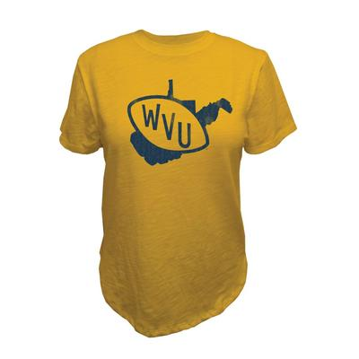 West Virginia Retro Brand Vault Slub Crew Tee