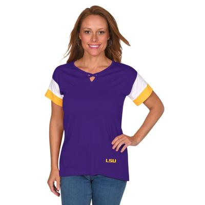 LSU University Girl Criss Cross Top