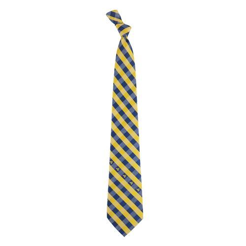 West Virginia Woven Polyester Check Tie