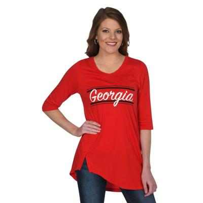 Georgia University Girl Sharkbite Tunic
