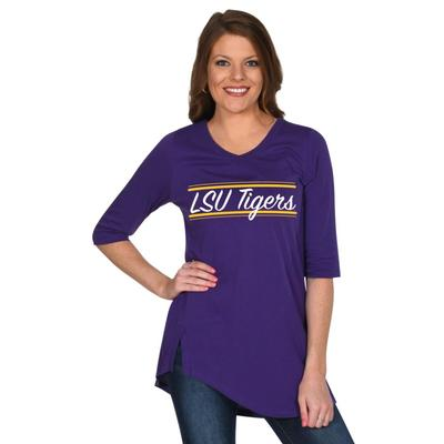LSU University Girl Sharkbite Tunic