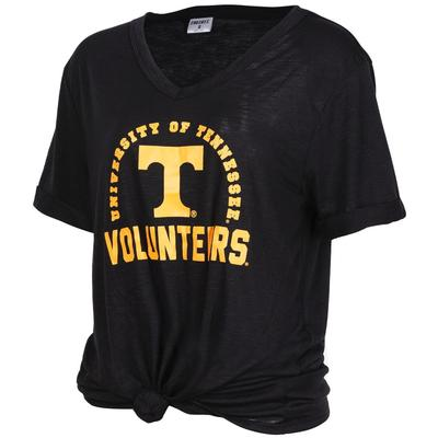 Tennessee Dodge Knotted V-Neck Tee