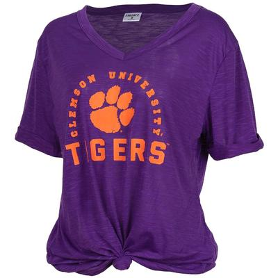 Clemson Dodge Knotted V-Neck Tee