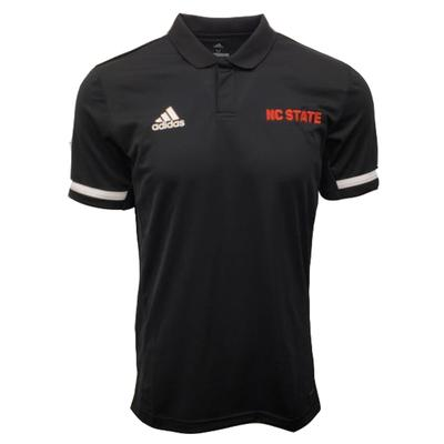 NC State Adidas Men's Coordinator Game Mode Polo BLACK