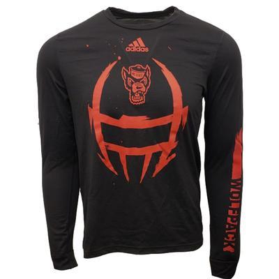 NC State Adidas Men's Helmet Creator Tee Shirt BLACK