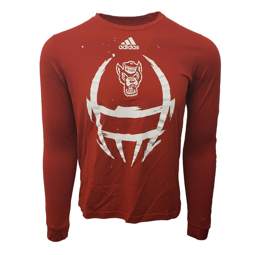 Nc State Adidas Men's Helmet Creator Tee Shirt
