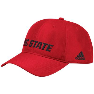 NC State Adidas Men's Sideline Climalite Adj Hat RED
