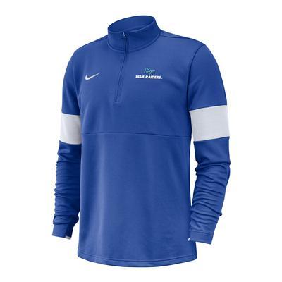 MTSU Nike 1/2 Zip Coaches Pullover