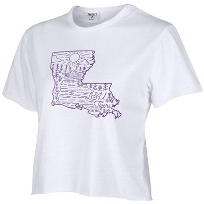 LSU Vista Humble Crop Top