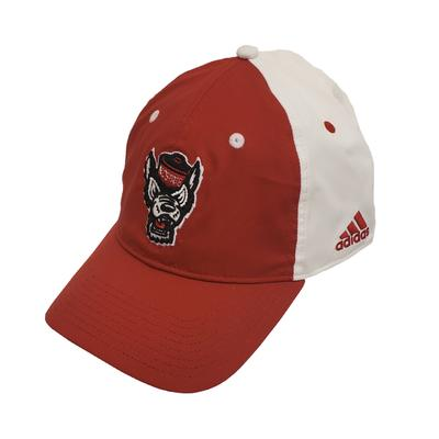 NC State Adidas Men's Sideline Slouch Flex Hat WHITE