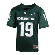 Michigan State Nike Youth Replica # 19 Home Jersey