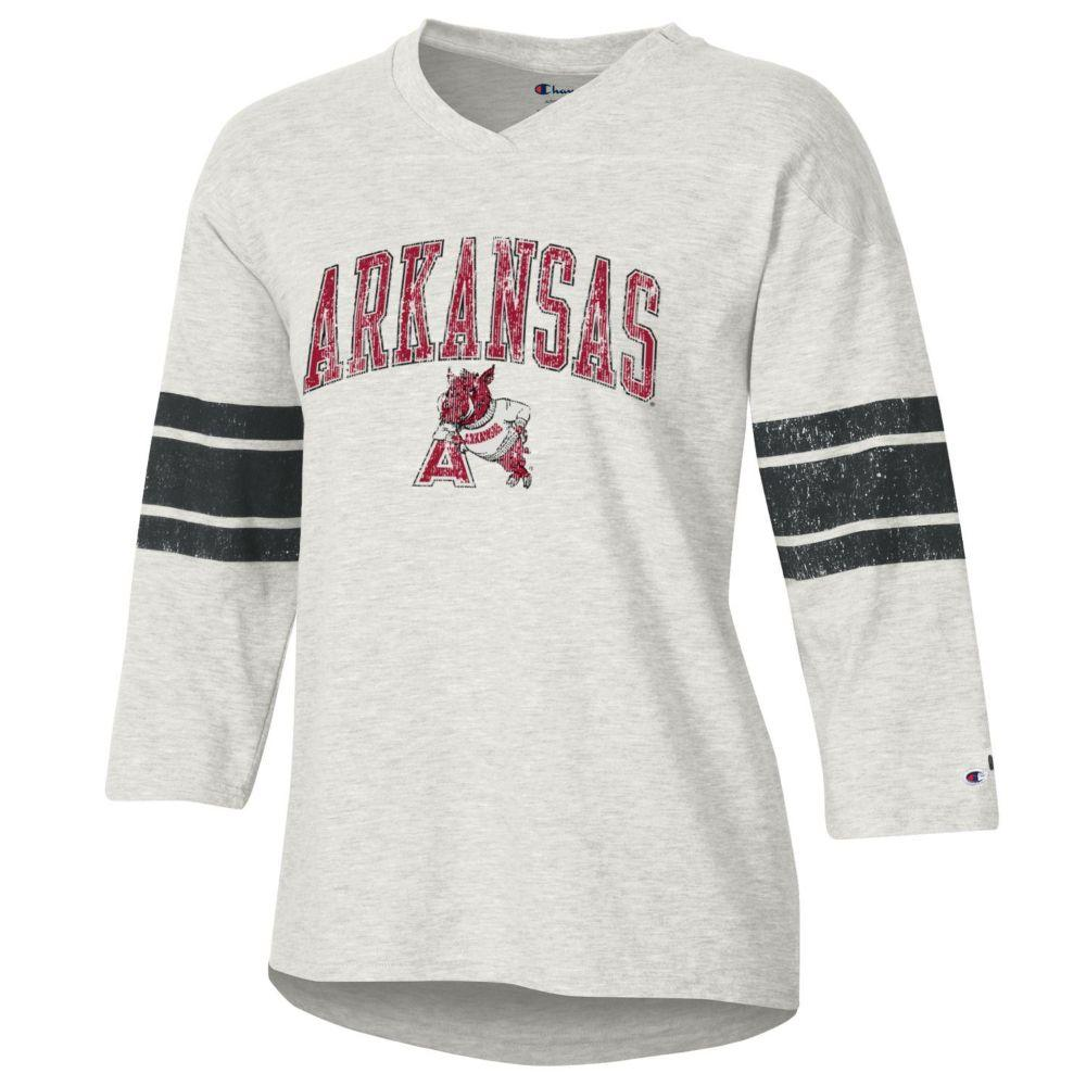 Arkansas Women's Rochester Slub Football Tee Shirt