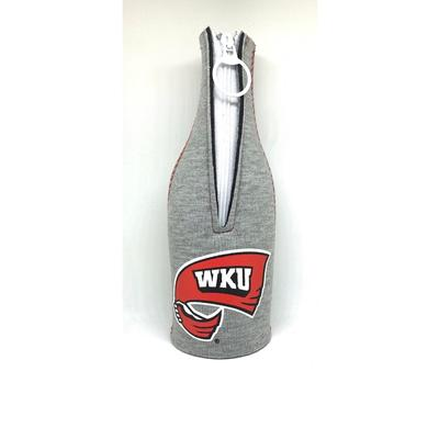 Western Kentucky Heathered Bottle Coozie