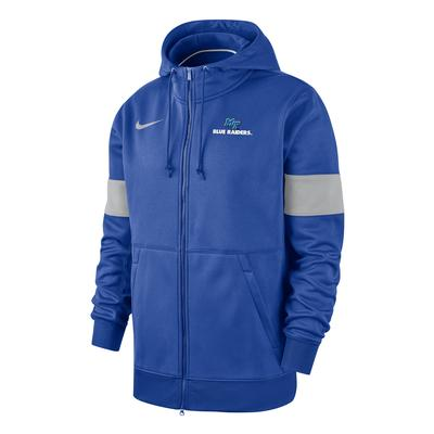 MTSU Nike Full Zip Therma Hoody