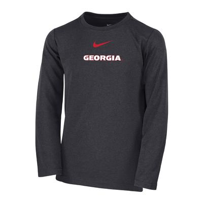 Georgia Nike Boys Coaches Long Sleeve Tee