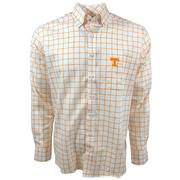 Tennessee Vols Frederick Martin Plaid Dress Shirt