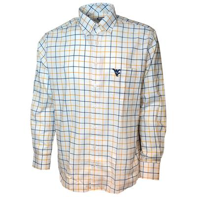 West Virginia Frederick Martin Plaid Dress Shirt