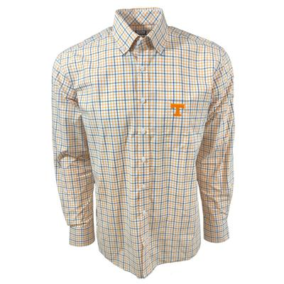 Tennessee Vols Frederick Martin Box Plaid Dress Shirt