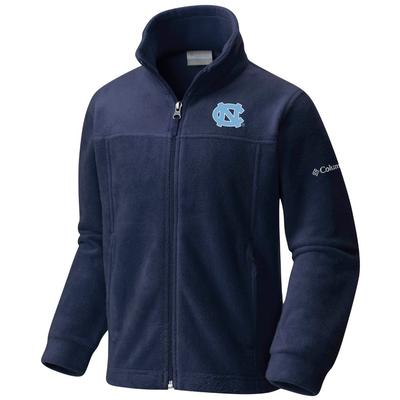 North Carolina Columbia Youth Flanker Full Zip Fleece