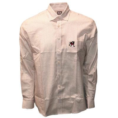 Georgia Frederick Martin Dot Pattern Dress Shirt