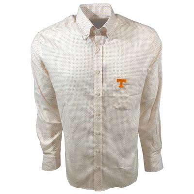 Tennessee Vols Frederick Martin Dot Pattern Dress Shirt
