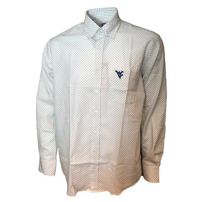West Virginia Frederick Martin Dot Pattern Dress Shirt