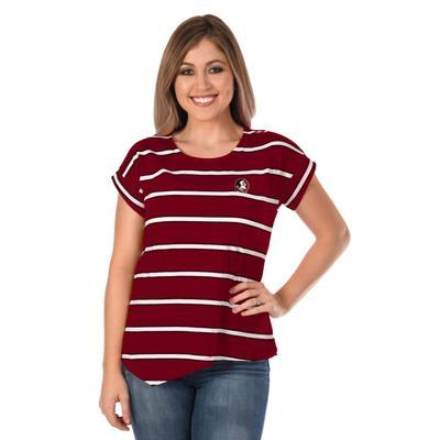 Florida State University Girl Asymmetrical Stripe Top