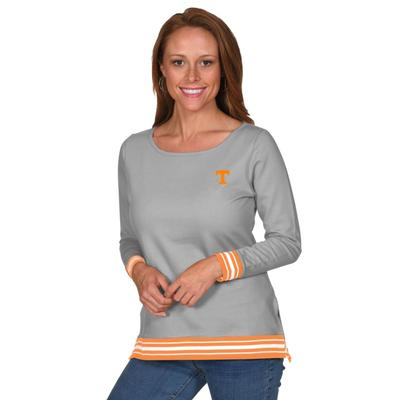 Tennessee University Girls Striped Rib Pullover