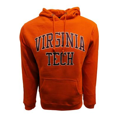Virginia Tech Arch Straight Hooded Sweatshirt ORANGE